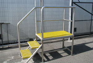 Raised Platform Stainless Steel Stairs Staircase Steps - 0.74m high