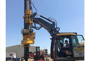 Excavator Mounted Modular drill rig retrofit onto 14-24+ ton excavator  Cesco Deep Foundation Equipm