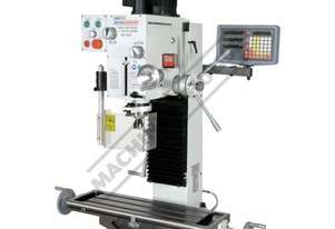 HM-46B Mill Drill - Geared & Tilting Head (X) 485mm (Y) 175mm (Z) 430mm Includes Digital Readout & D