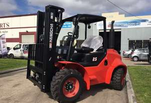 Brand new Hangcha 2.5 Ton 4-Wheel Rough Terrain Forklift