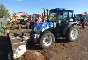 New Holland T4020 Tractor with Front Broom