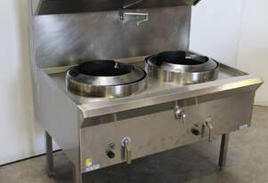Luus WL-2C Waterless 2 Hole Wok Table