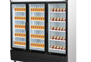 Triple Door Upright Glass Door Combined Fridge & Freezer 1461Lt 1800mm W