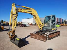 YANMAR SV100 10T EXCAVATOR WITH RUBBER TRACKS AND 4860 HOURS - picture0' - Click to enlarge
