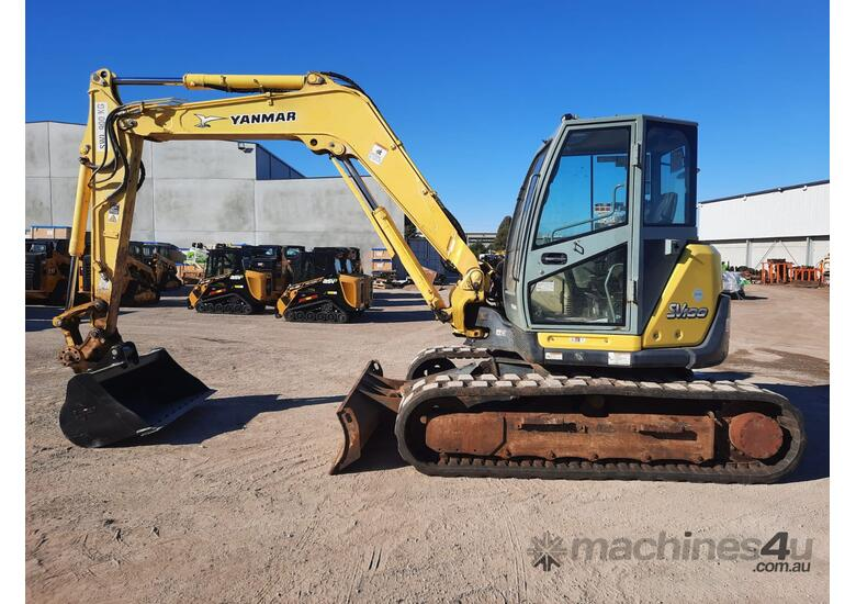 YANMAR SV100 10T EXCAVATOR WITH RUBBER TRACKS AND 4860 HOURS