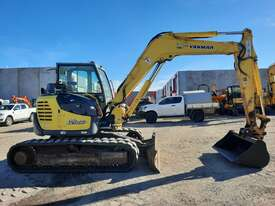 YANMAR SV100 10T EXCAVATOR WITH RUBBER TRACKS AND 4860 HOURS - picture2' - Click to enlarge