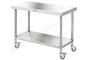 Simply Stainless 2400x600mm Mobile Work Bench