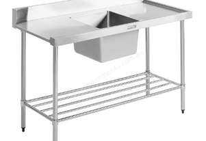 SIMPLY STAINLESS 1650x600x900 D/W ENTRY BENCH