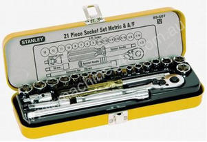 SOCKET SET 21PC 1/4DR METRIC/AF