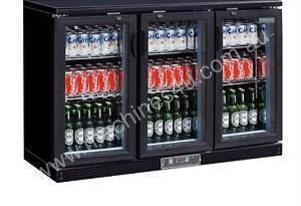 Polar DL818-A - Bar Display Cooler Black Triple Hinged Doors