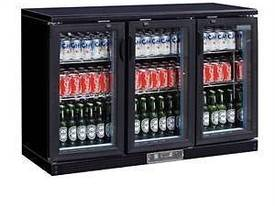 Polar DL818-A - Bar Display Cooler Black Triple Hinged Doors - picture0' - Click to enlarge