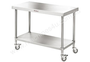 Simply Stainless 1800 x 700mm Mobile Work Bench