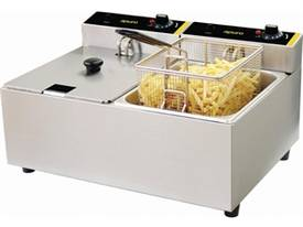 NEW APURO COMMERCIAL DOUBLE DEEP FRYER/ DL891A - picture1' - Click to enlarge