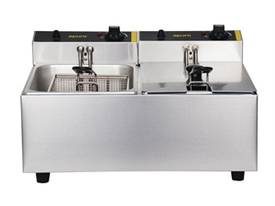NEW APURO COMMERCIAL DOUBLE DEEP FRYER/ DL891A - picture2' - Click to enlarge