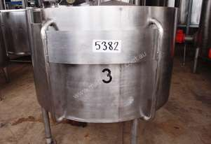 Stainless Steel Storage Tank - Capacity 1,000Lt.