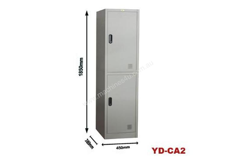 Two Bank Metal Steel Storage Locker