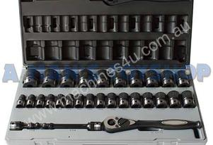 SOCKET SET 1/2DR METRIC STD & DEEP 29 PC