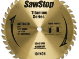 Sawstop titanium ripping and cross cutting blade
