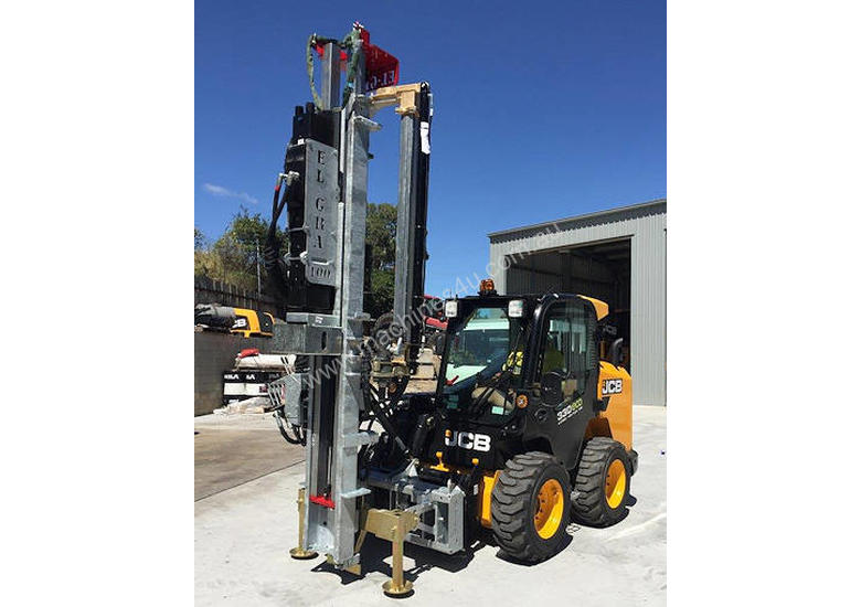 NEW EL-GRA SKID STEER POST DRILL AND DRIVER ATTACH