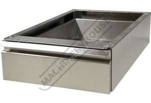SSD-1 Stainless Steel Drawer - Mounts Under Bench 460 x 660 x 150mm Ball Bearing Slides