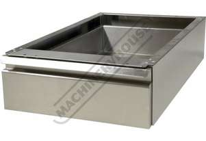 SSD-1 Stainless Steel Drawer - Mounts Under Bench 400 x 660 x 150mm Nylon Roller Bearing Slides