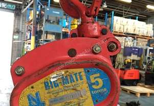 Chain Hoist 5 Ton x 6 meter drop lifting Block and Tackle Nobles Rigmate 5000kg