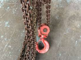 Chain Hoist 5 Ton x 6 meter drop lifting Block and Tackle Nobles Rigmate 5000kg - picture2' - Click to enlarge