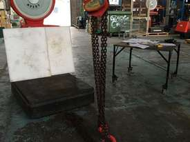 Chain Hoist 5 Ton x 6 meter drop lifting Block and Tackle Nobles Rigmate 5000kg - picture3' - Click to enlarge