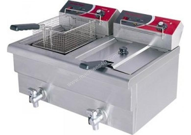 F.E.D EF-S7.52/15 15 Amp Double Benchtop Electric Fryer with Cold Zone