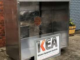 1830 MM USED STAINLESS STEEL PIZZA CANOPY - picture1' - Click to enlarge