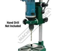 DS-19 Compact Power Drill Stand Spring Return Drilling Head Suits Hand Power Drills with 38mm or 43m - picture0' - Click to enlarge