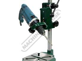 DS-19 Compact Power Drill Stand Spring Return Drilling Head Suits Hand Power Drills with 38mm or 43m - picture2' - Click to enlarge