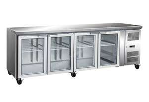 F.E.D. GN4100FEGS 4 Glass Door Gastronorm Bench Fridge