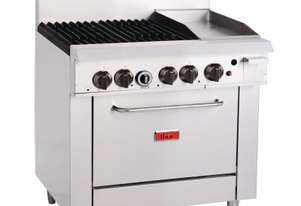Thor 4 Burner Oven with 12`` Griddle with flame failure- NG