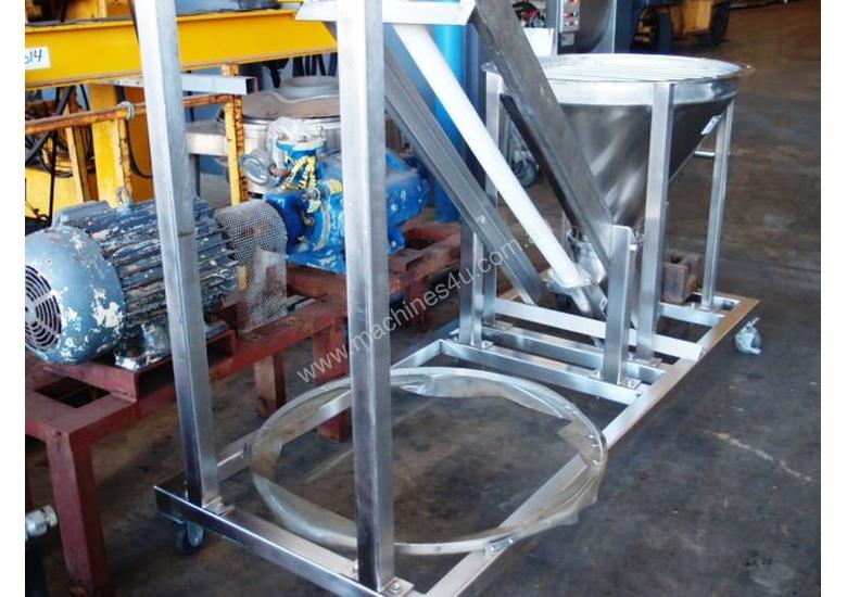 Tubular Screw Conveyor, 75mm Dia x 2850mm H