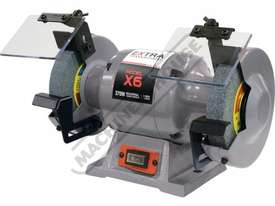 X6 Industrial Bench Grinder Ø150mm Fine & Coarse Wheels 0.37kW - 0.5HP Motor Power - picture0' - Click to enlarge