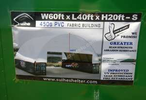 C6040S 18m x 12m x 4.5m Double Trussed Container Shelter - 6452-66