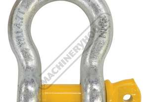 GSSB19 4.7T Bow Shackle Galvanised Finish With Yellow Pin