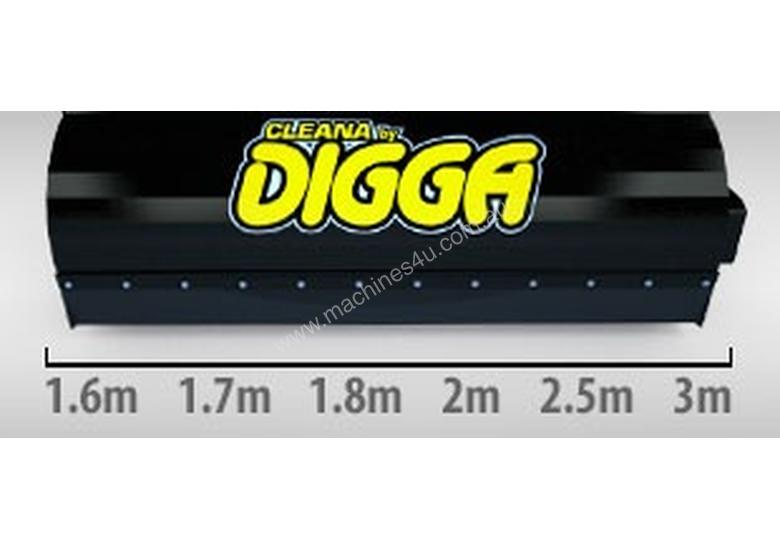 Digga Cleana 1600mm Bucket Broom Standard Flow 100% Poly Brush