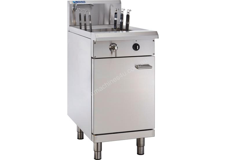 6 Basket Noodle Cooker with thermostat control, drain and overflow system