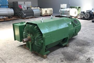 400 kw 535 hp 4 pole 3300 volt TECO Slip Ring Wound Rotor Electric Motor