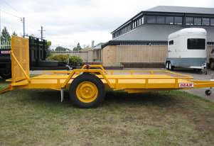 No.17HD Heavy Duty Single Axle Tilt Bed Plant Transport Trailer