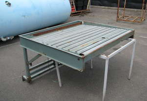 Steel Roller Tilt Table - 1250mm wide Rollers