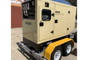 Trailer Mount KOHLER KD77 Diesel Generator for HIRE |Total Wet Weight 2000KG