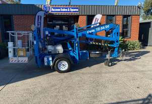 USED 2017 GENIE TZ34/20 TRAILER MOUNTED BOOM LIFT  **GREAT CONDITION – LOW HOURS**