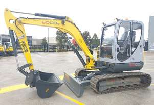 UNUSED WACKER NEUSON 6003-2 EXCAVATOR WITH FULL CAB, HITCH AND BUCKETS
