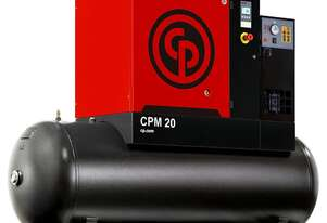 Chicago Pneumatic 20HP Screw Compressor with Dryer Package