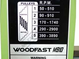 M910 Heavy Duty Wood Lathe 520mm Swing x 975mm Between Centres - picture7' - Click to enlarge