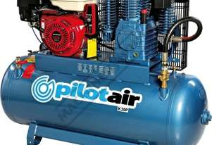 K30P Petrol Driven Pilot Air Compressor 200 Litre / Honda GX390 34.7cfm Displacement
