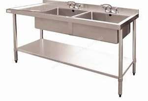 Stainless Steel Double Bowl Sink LH Drainer  DN758